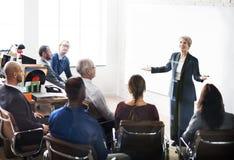 Geschäft Team Meeting Seminar Conference Concept lizenzfreies stockfoto