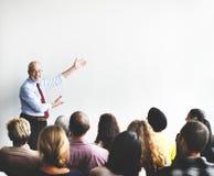 Geschäft Team Seminar Listening Meeting Concept lizenzfreie stockbilder