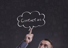 Geschäft, Technologie, Internet und Marketing Junger Geschäftsmann Lizenzfreie Stockfotos