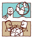 Geschäft u. Welt Lizenzfreies Stockfoto