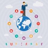 Geschäft um die Welt Lizenzfreies Stockfoto