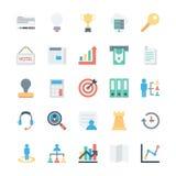 Geschäft und Büro farbige Vektor-Ikonen 3 Lizenzfreie Stockfotos