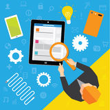 Geschäft und Büro-Vektor-Design Stockbild