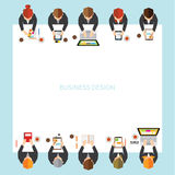 Geschäft und Büro-Vektor-Design Lizenzfreies Stockbild