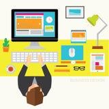 Geschäft und Büro-Vektor-Design Lizenzfreies Stockfoto