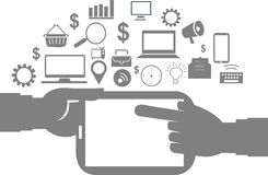 Geschäft und Büroikone lizenzfreies stockbild