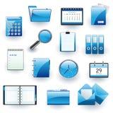 Geschäft und Bürovektorikonenset Stockfoto