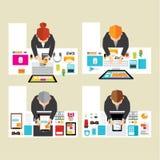 Geschäft und Officel-Vektor-Design Stockfotos