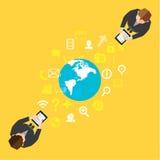 Geschäft und soziales NetworkVector-Design Stockfoto