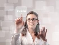 Geschäft und Technologie lizenzfreie stockbilder