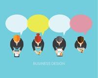 Geschäft und Vektor-Design des Büro-Sozialen Netzes Stockfotografie