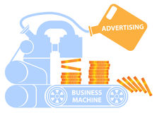 Geschäft und Werbung Stockbild