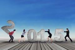 Geschäft verfassende Zahl 2015 des Teams Stockfotografie
