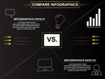 Geschäft vergleichen infographics Lizenzfreie Stockfotos