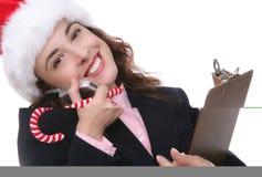 Geschäft am Weihnachten Lizenzfreies Stockbild