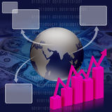 Geschäft wirtschaftlich und Finanzierung stockbild