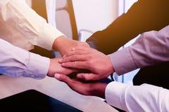 Geschäft zum Arbeiten im Büro das Konzept für erfolgreiche Arbeit zum Ziel der Organisation Stockfotografie