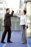 Geschäft zusammen Lizenzfreie Stockfotos