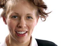 Geschäftbeiläufiges adrettes Brunette-Frau-Baumuster Stockfotografie