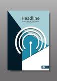 Geschäfts-Abdeckungsdesign A4 mit wi-FI und IT-Thema Jahresbericht Lizenzfreie Stockbilder