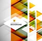 Geschäfts-abstrakte geometrische Schablone Stockfotos