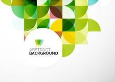 Geschäfts-abstrakte geometrische Schablone Stockfotografie