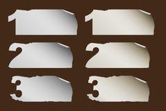 Geschäfts-abstrakter Papierfortschritt Lizenzfreie Stockbilder