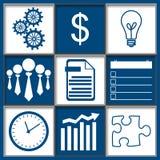 Geschäfts-abstraktes Gitter-blaues Weiß Stockfotos