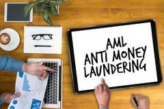 Geschäfts-Akronym AML Anti Money Laundering stockfotos