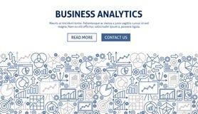 Geschäfts-Analytik-Fahnen-Design Lizenzfreies Stockfoto