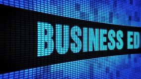 Geschäfts-Ausbildungs-Seite simsen das In einer Liste verzeichnen des LED-Wand-Anzeigetafel-Zeichen-Brettes stock video footage