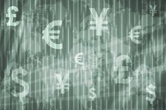 Geschäfts-Börse-Auszugs-Hintergrund Stockbilder