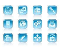 Geschäfts-, Büro- und Internet-Ikonen Lizenzfreie Stockfotos