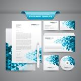 Geschäfts-Briefpapier-Schablone Stockfoto