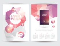 Geschäfts-Broschüren-Flieger-Plan-Schablone der Größen-A4 Lizenzfreie Stockbilder