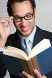 Geschäfts-Buch-Mann stockbilder