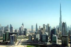 Geschäfts-Bucht in Dubai, ein Wolkenkratzerwald lizenzfreies stockfoto