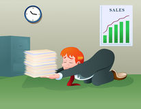 Geschäfts-Datei stock abbildung