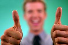 Geschäfts-Daumen OBEN Lizenzfreie Stockfotografie