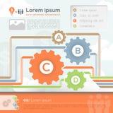 Geschäfts-Design-Schablonen-Plan Stockfoto