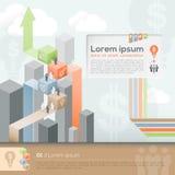 Geschäfts-Design-Schablonen-Plan Lizenzfreies Stockfoto