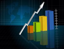 Geschäfts-Diagramm Stockfotos