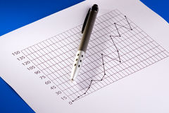 Geschäfts-Diagramm Stockfotografie