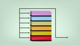 Geschäfts-Diagramm drei Lizenzfreies Stockfoto