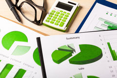 Geschäfts-Diagramm-Grün Lizenzfreie Stockfotos