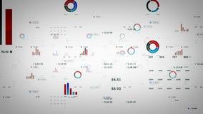 Geschäfts-Diagramm-und Daten-Weiß stock abbildung