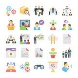 Geschäfts-Ebene farbige Ikonen 8 lizenzfreie abbildung