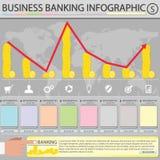Geschäfts-Ein Bankkonto haben infographic Lizenzfreie Stockfotos