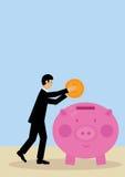 Geschäfts-Einsparung lizenzfreie abbildung