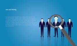 Geschäfts-Einstellungs-Konzept, das Geschäftsmann vorwählt Stockfotografie